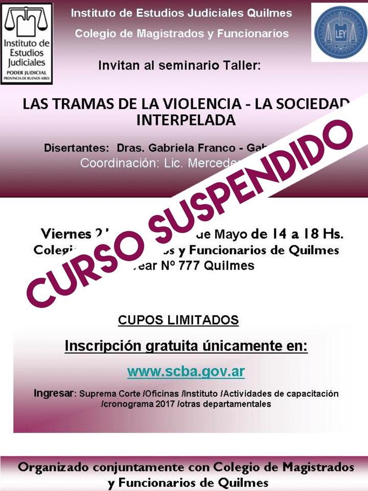 SUSPENSIÓN // Seminario gratuito sobre: