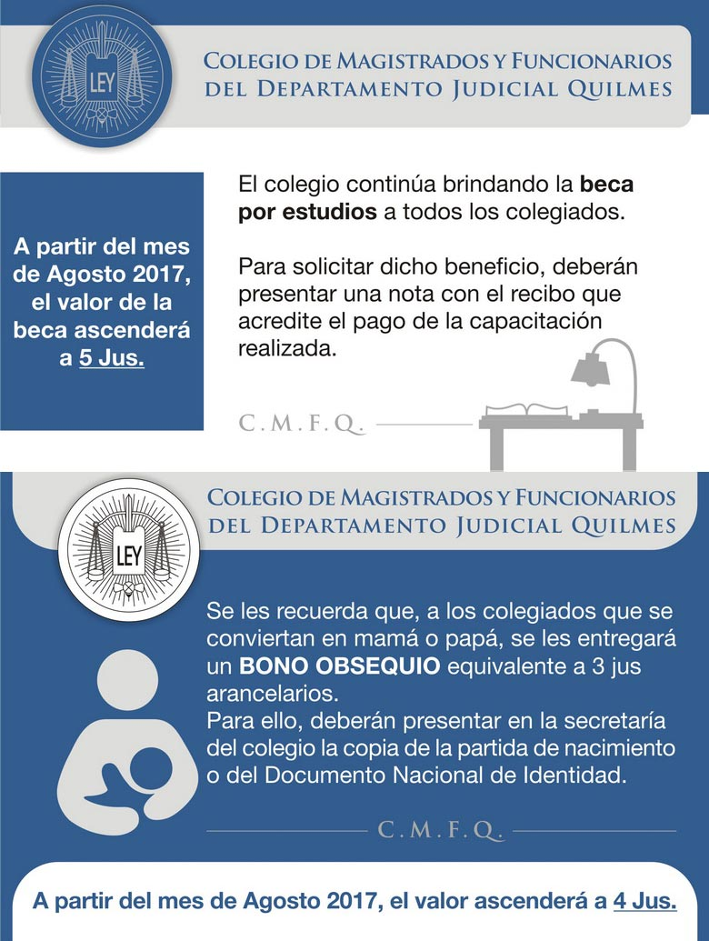 ¡Aumento!/BECA ANUAL POR ESTUDIOS y BENEFICIO POR NACIMIENTO