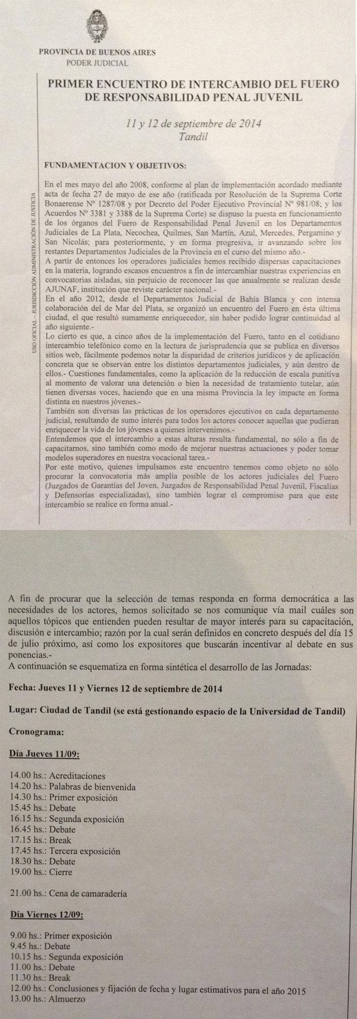 PRIMER ENCUENTRO DE INTERCAMBIO DEL FUERO DE RESPONSABILIDAD PENAL