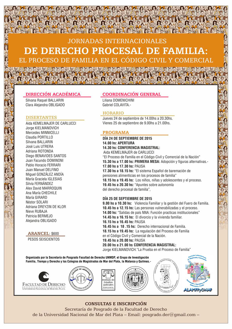 JORNADAS INTERNACIONALES DE DERECHO PROCESAL DE FAMILIA: EL PROCESO DE FAMILIA EN EL CÓDIGO CIVIL Y COMERCIAL