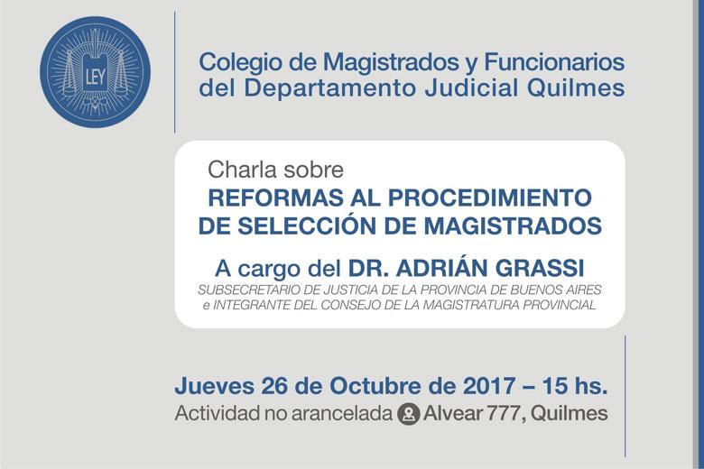 DR. ADRIÁN GRASSI/Charla gratuita sobre: