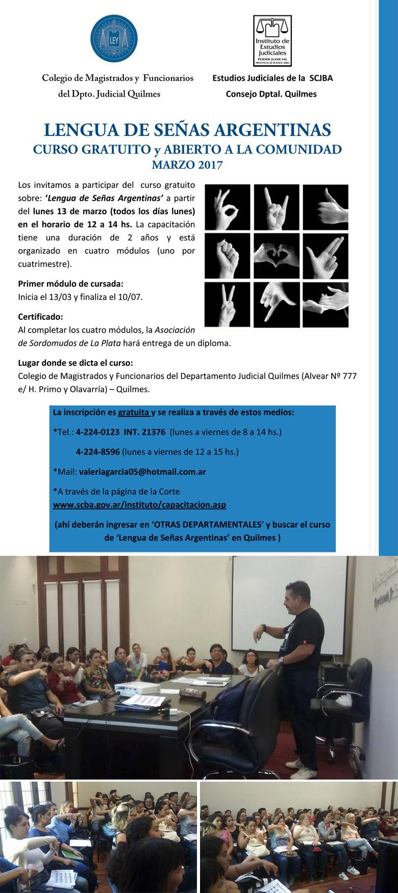 Curso gratuito sobre: LENGUA DE SEÑAS ARGENTINAS