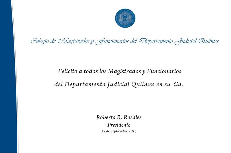 C.M.F.Q. - Día del Magistrado y Funcionario Judicial