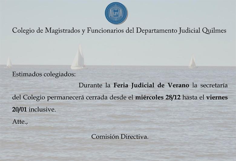Feria Judicial de Verano