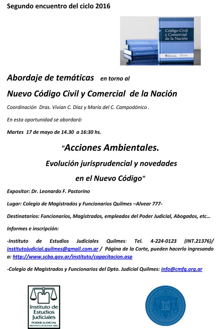 Curso gratuito sobre: ACCIONES AMBIENTALES. EVOLUCIÓN JURISPRUDENCIAL Y NOVEDADES EN EL NUEVO CÓDIGO
