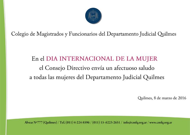 CMFQ -  DIA INTERNACIONAL DE LA MUJER
