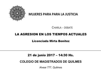 """AMJ/Charla - debate: """"LA AGRESIVIDAD EN LOS TIEMPOS ACTUALES"""""""