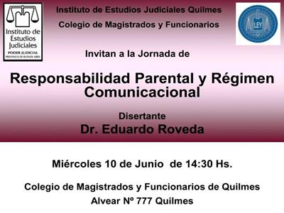Jornada sobre: RESPONSABILIDAD PARENTAL Y RÉGIMEN COMUNICACIONAL