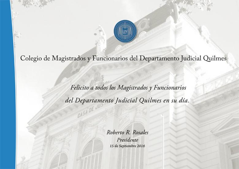 Día del Magistrado y Funcionario Judicial