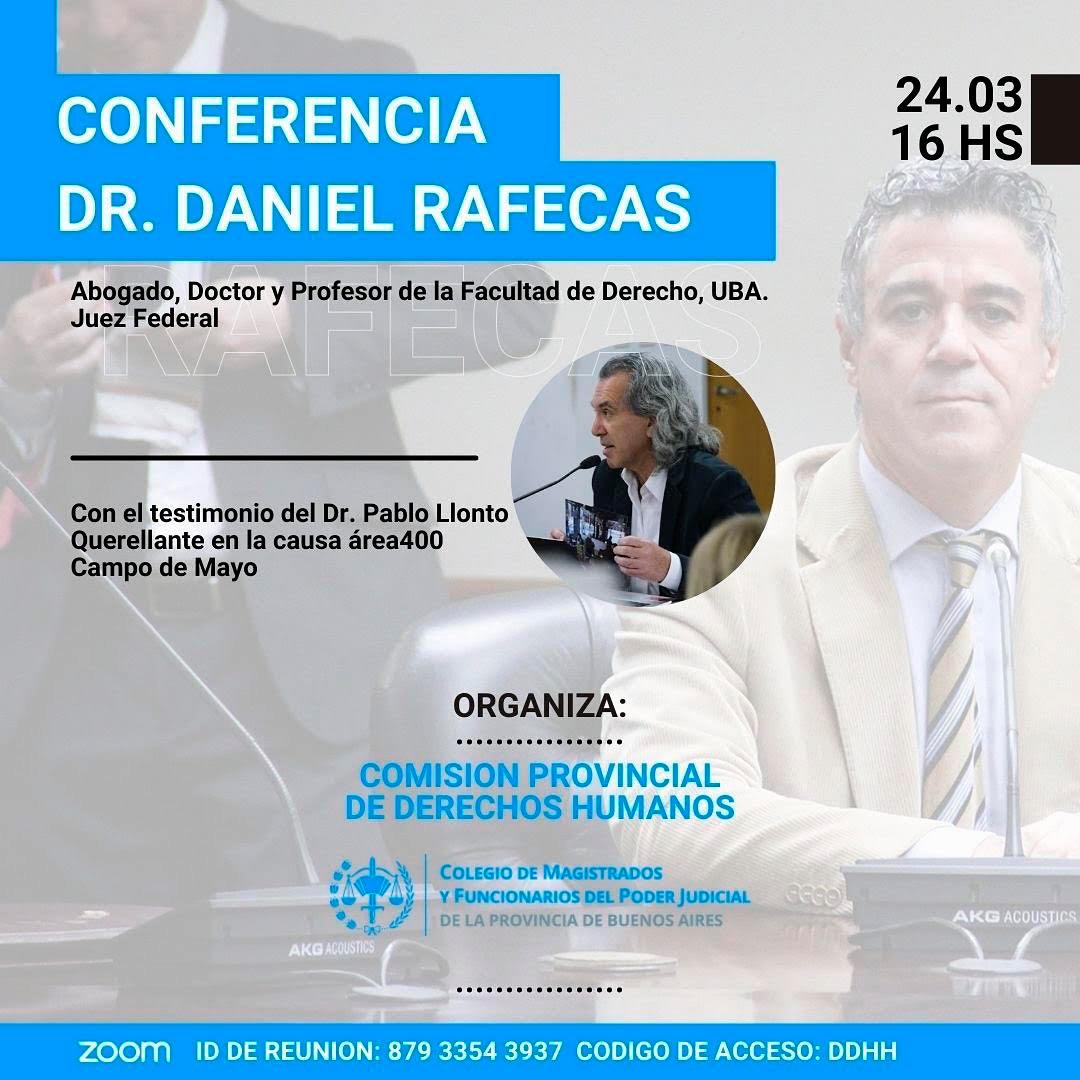 Disertación del DR. DANIEL RAFECAS