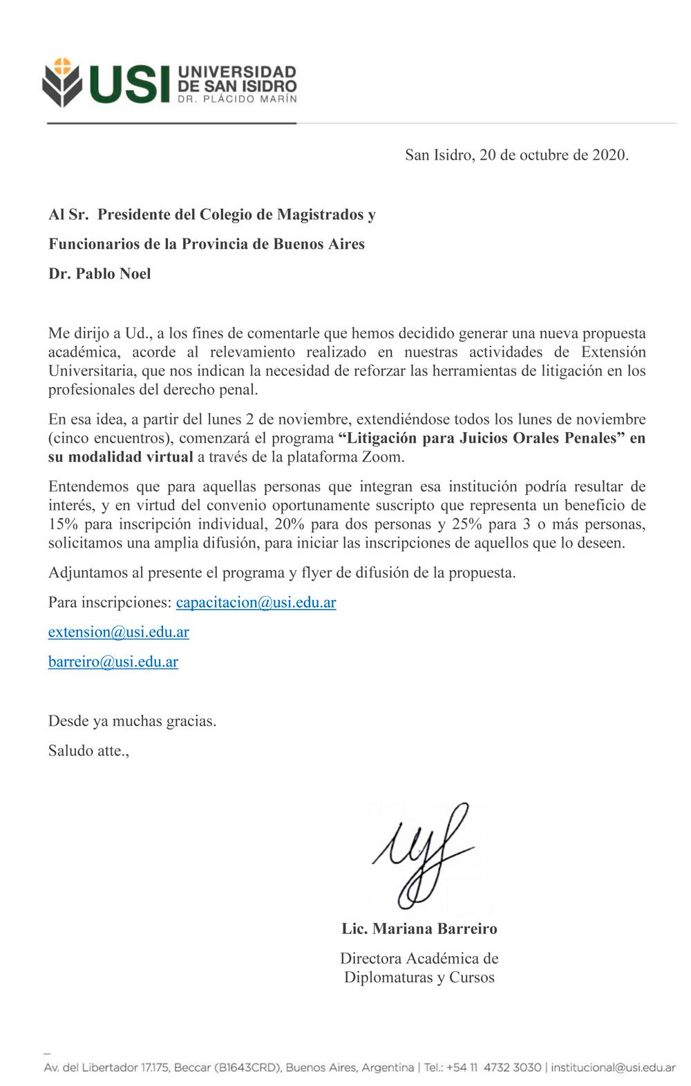 USI - UNIVERSIDAD DE SAN ISIDRO