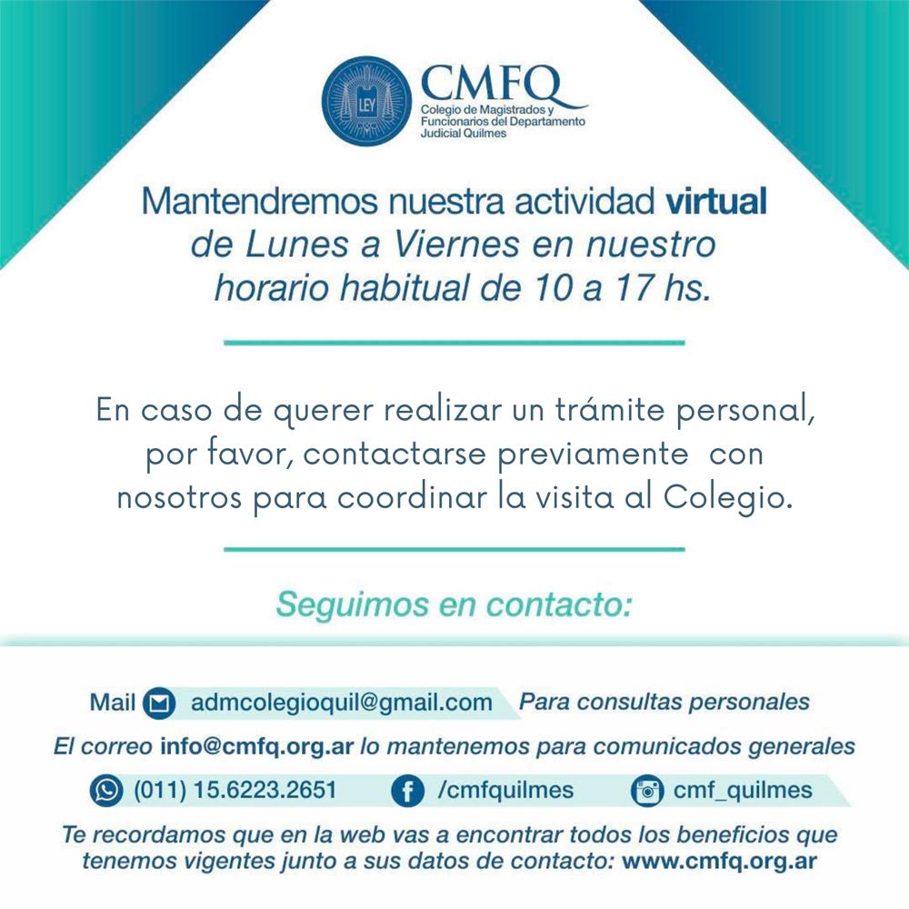 Atención y medios de contacto CMFQ