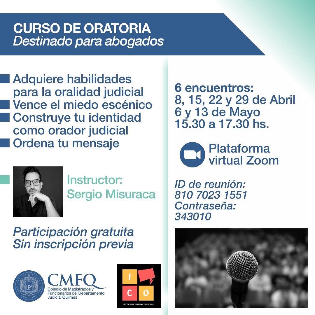 CMFQ - Curso de ORATORIA para abogados/as