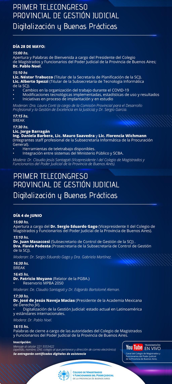 Primer Telecongreso Provincial de Gestión Judicial
