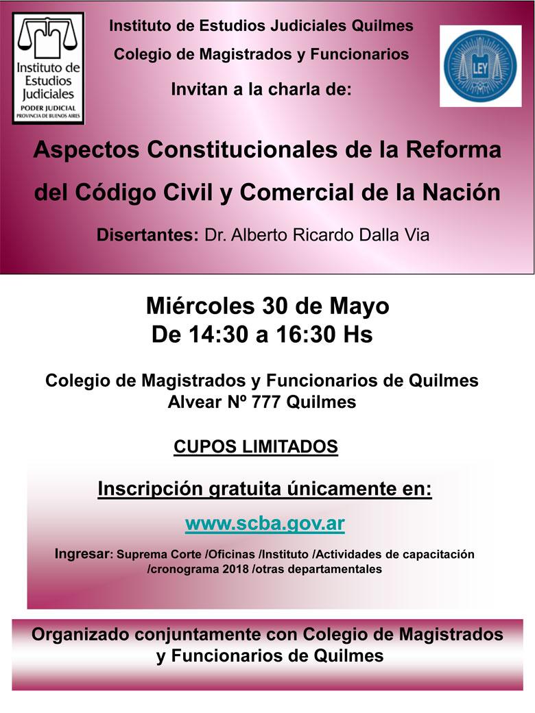 Curso: Aspectos Constitucionales de la Reforma del Código Civil y Comercial de la Nación