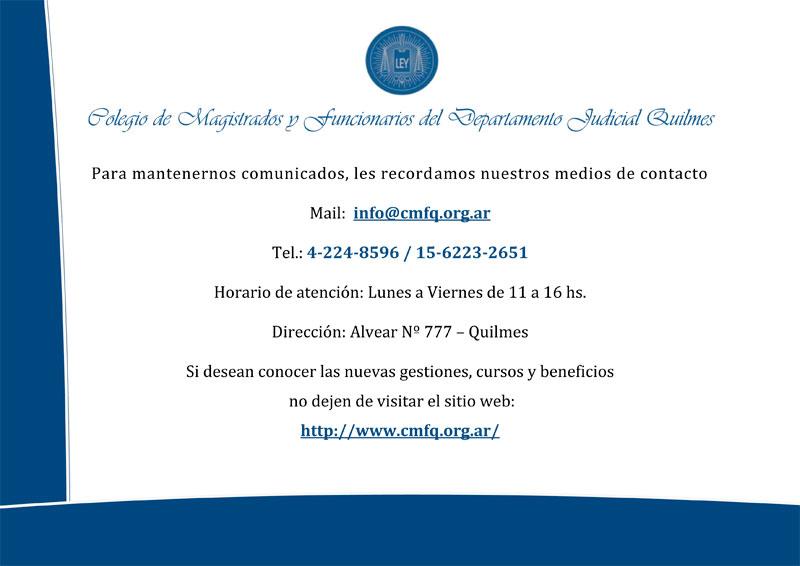 CMFQ - Medios de contacto