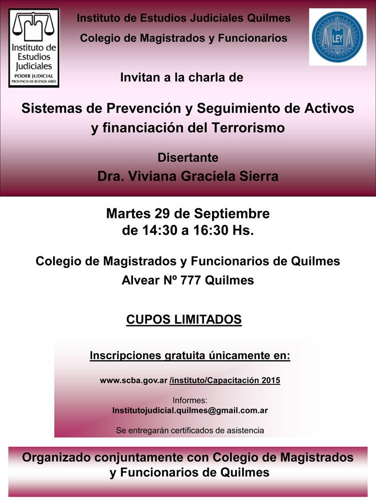 Sistemas de prevención, seguimientos de activos y financiación del terrorismo