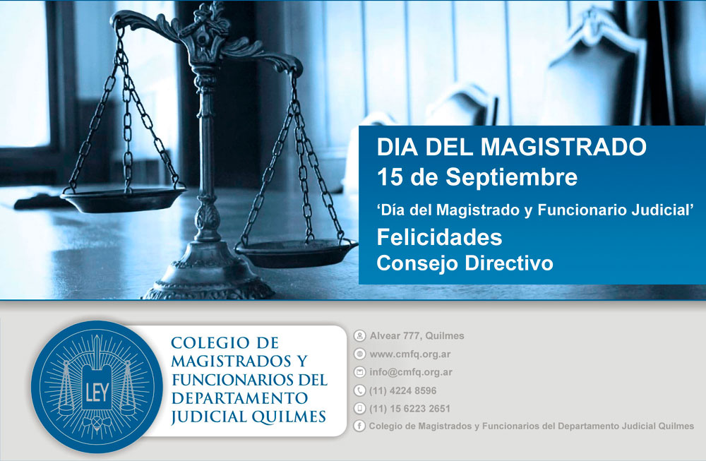 DIA DEL MAGISTRADO Y FUNCIONARIO JUDICIAL