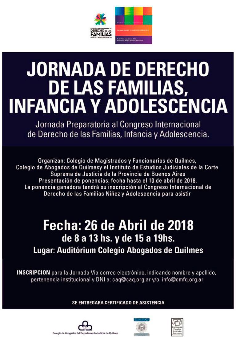 JORNADA DE DERECHO DE LAS FAMILIAS, INFANCIA y ADOLESCENCIA