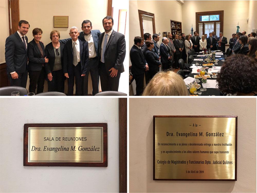 Homenaje a la Dra. Evangelina M. González