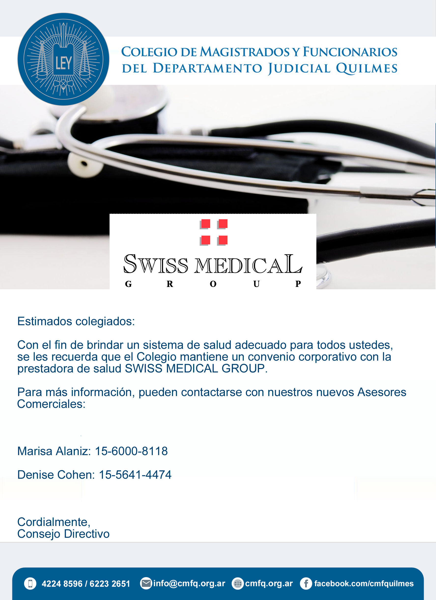 SWISS MEDICAL GROUP//Convenio corporativo