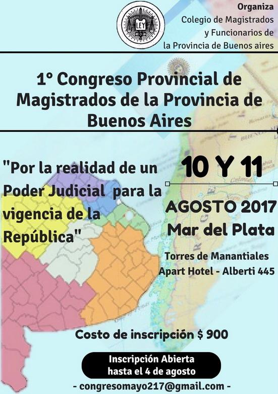 1° Congreso Provincial de Magistrados de la Provincia de Buenos Aires