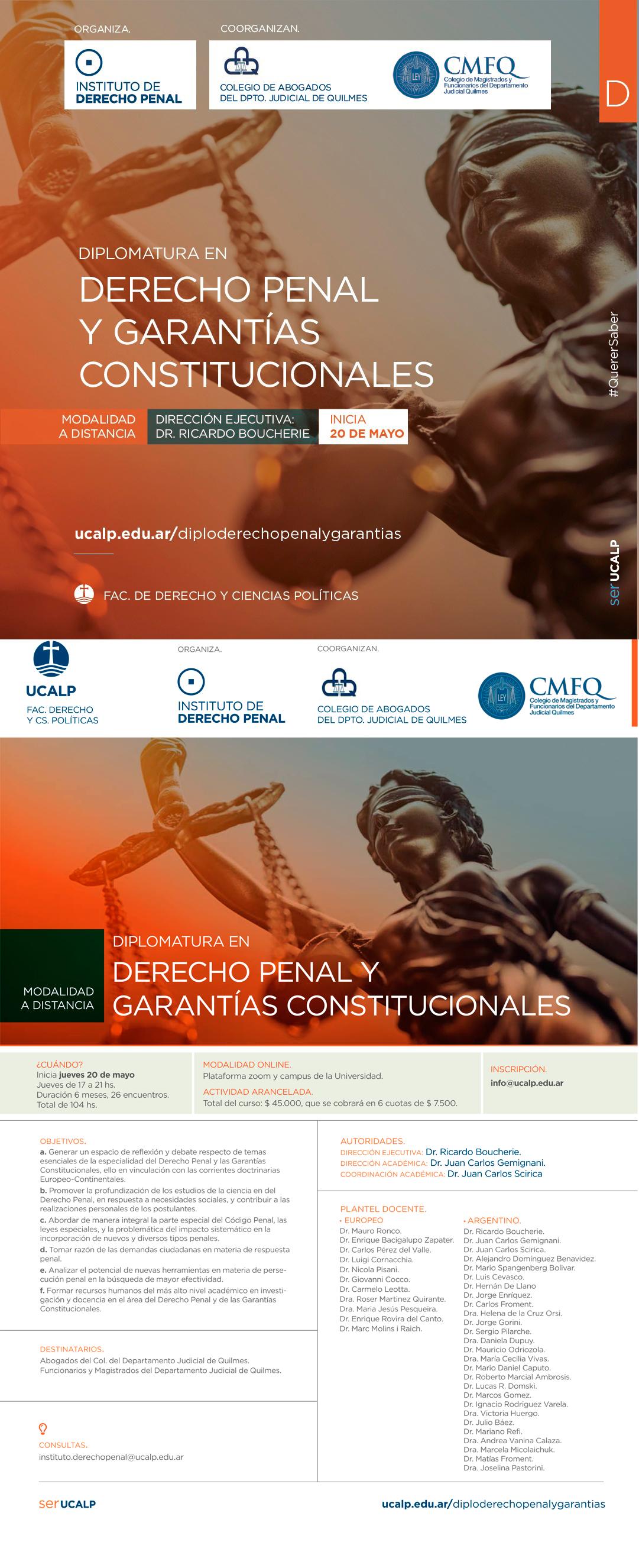 UUCALP - DIPLOMATURA EN DERECHO PENAL Y GARANTÍAS CONSTITUCIONALES