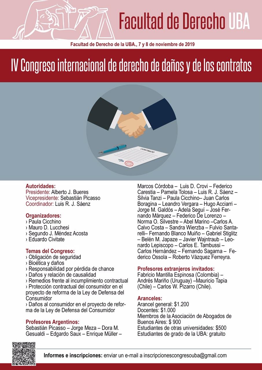 IV Congreso de derecho de daños y de los contratos