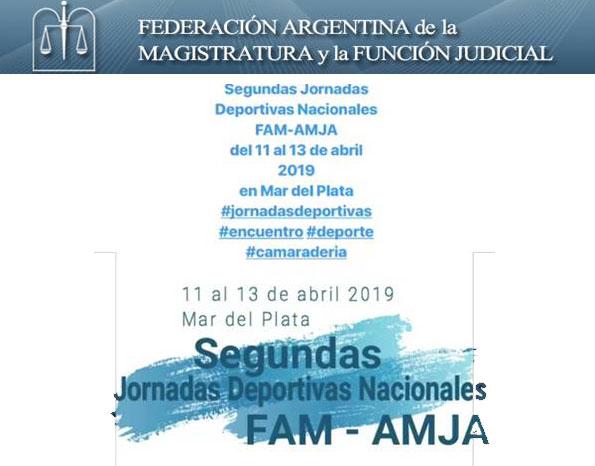 2° JORNADAS DEPORTIVAS DE LA FEDERACIÓN ARGENTINA DE LA MAGISTRATURA Y LA FUNCIÓN JUDICIAL  -