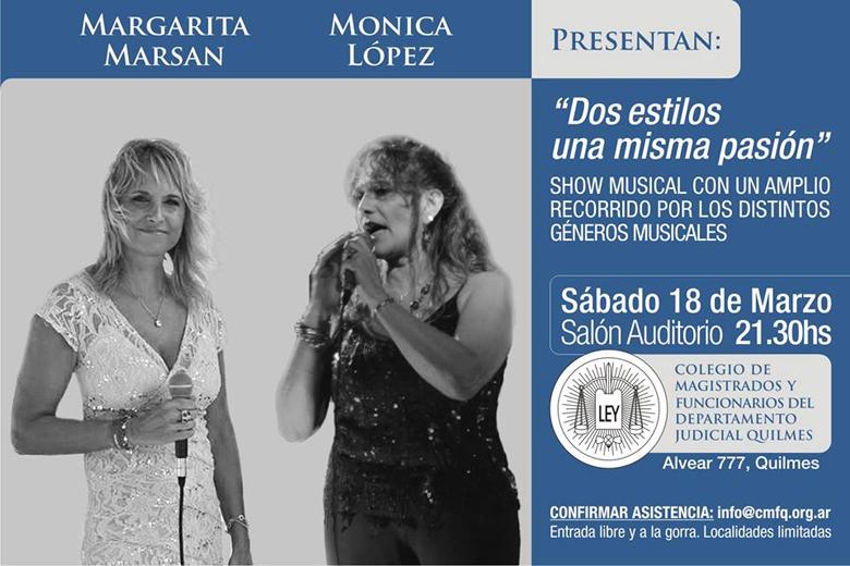 """Primer show musical en vivo:""""DOS ESTILOS UNA MISMA PASIÓN"""""""