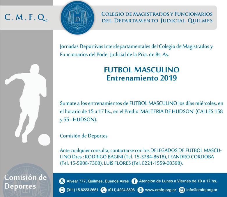 Entrenamiento // FUTBOL MASCULINO