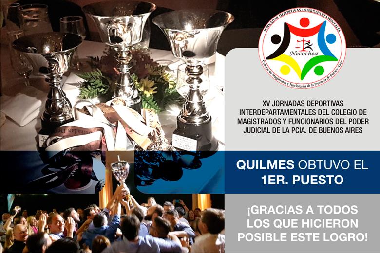 XV JORNADAS DEPORTIVAS INTERDEPARTAMENTALES DEL COLEGIO DE MAG. Y FUNC. DEL PODER JUDICIAL DE LA PCIA. DE BS. AS.