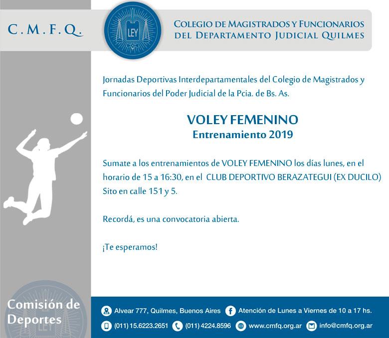 Entrenamiento // VOLEY FEMENINO