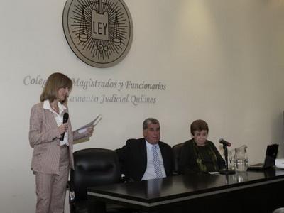 Visita de la DRA. AÍDA KEMELMAJER DE CARLUCCI